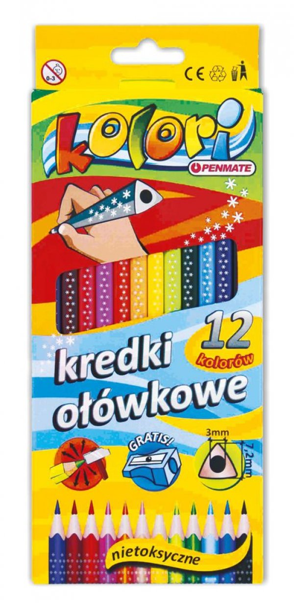 Kredki ołówkowe Kolori Penmate