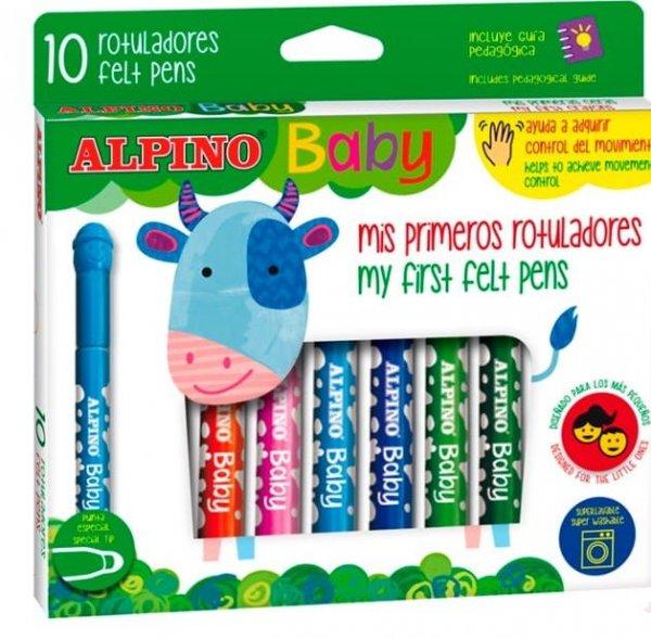 Flamastry dla dzieci Alpino BABY 10 kolorów